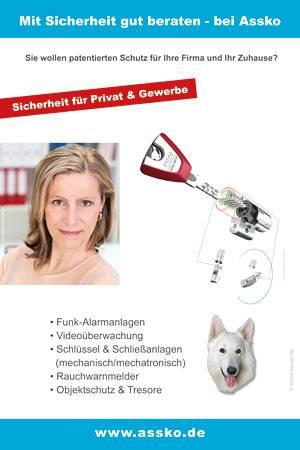 Schira-Design (Kassel) gestaltete die Werbung mit QC-Code für den Fahrradständer von Assko Sicherheitstechnik in Warburg.