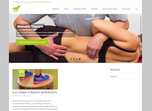 Webdesign & WordPress Homepage für Physiotherapie Fuldabrück