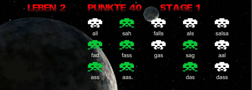 """Mit dem Tippspiel """"Word Invaders"""" von Emo2Type macht das Üben gleich doppelt Spaß!"""