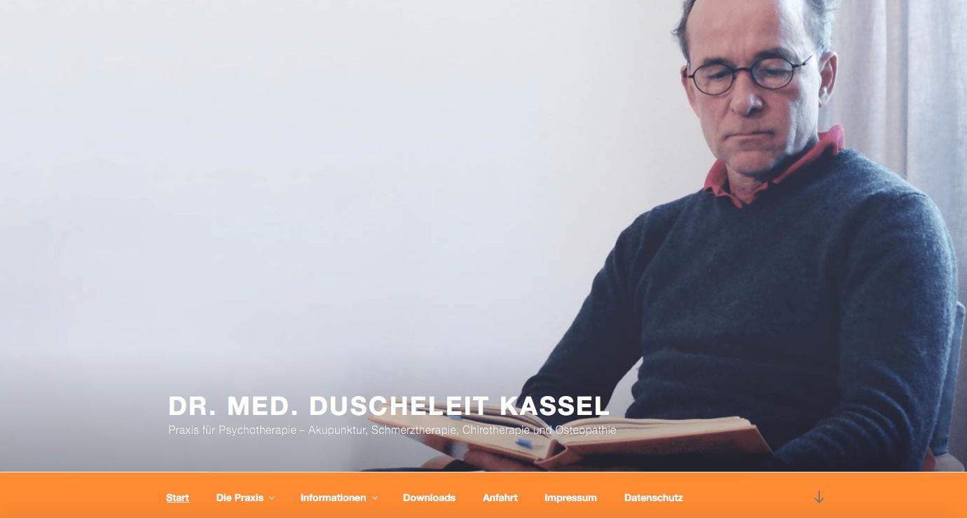 Webdesign Kassel - Die Praxis Dr. Duscheleit in Kassel-Wilhelmshöhe stellt sich vor