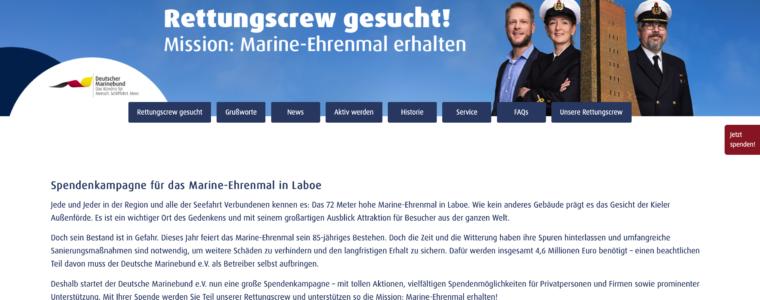 Wordpress Website aus Kassel: Spendenseite für das Marine Ehrenmal Laboe kommt von Schira-Design