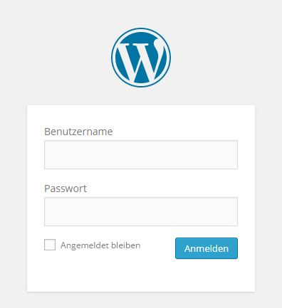 Login Backend WordPress Webseite - Schira-Design Kassel