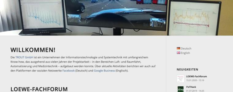 Wordpress Webdesign aus Kassel für die Trout GmbH