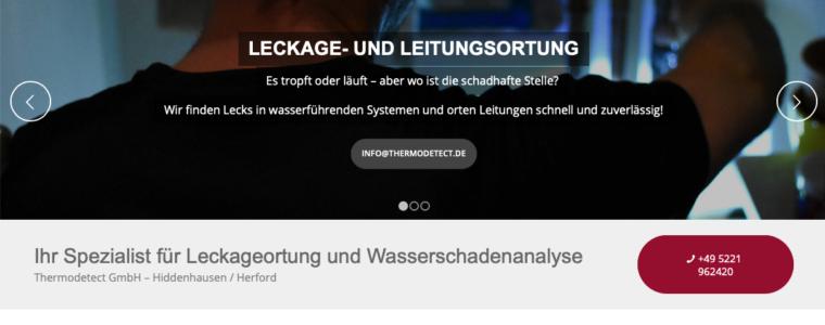Wordpress Website aus Kassel von Schira-Design für Thermodetect GmbH